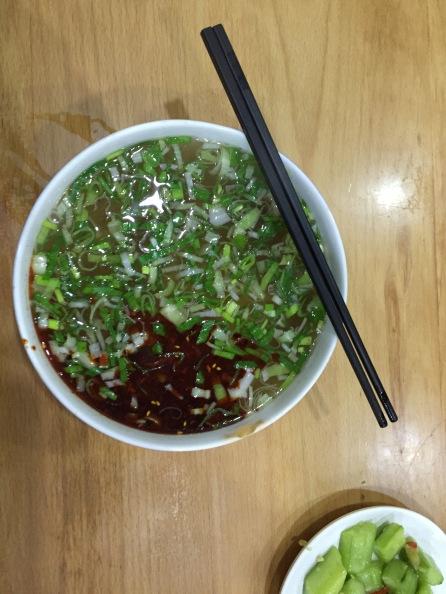 A famous Lanzhou noodle bowl