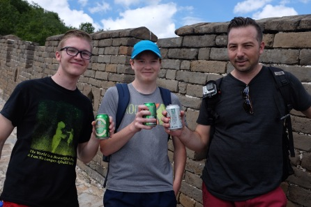 A toast on the Great Wall!
