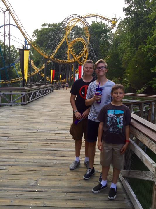 Riding the roller coasters at Busch Gardens Williamsburg