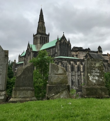 A view of the Glasgow Cathedral from he Necroplolis