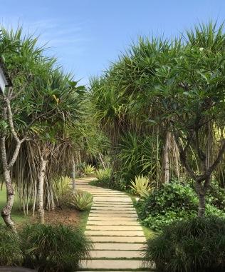 The private walk to the villa