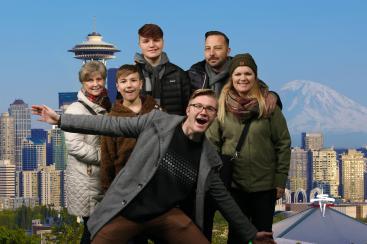 The obligatory goofy family photo