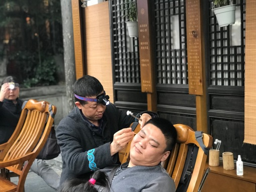 You can even get your ears cleaned!